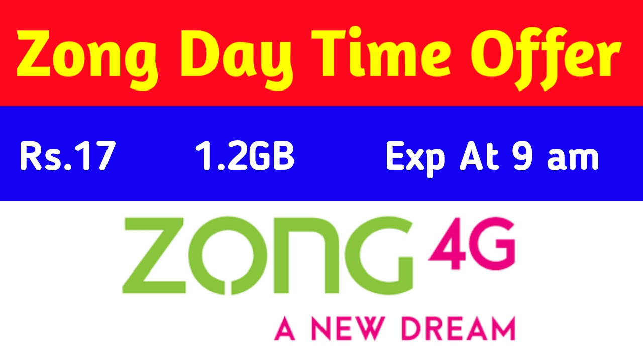 Zong Internet Day Time Offer