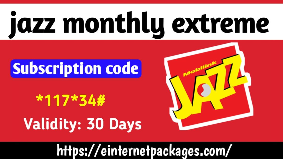 Jazz Monthly Extreme Package ( Prepaid )