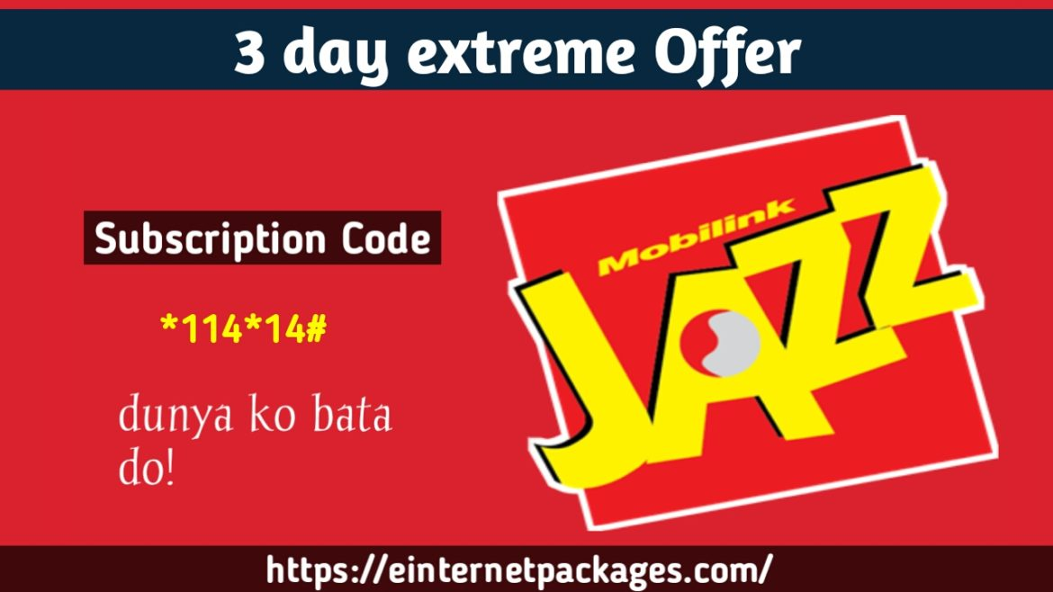 Jazz 3 Day Extreme Offer